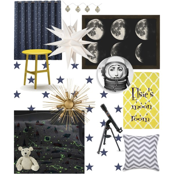 Elsie's moon room mood board